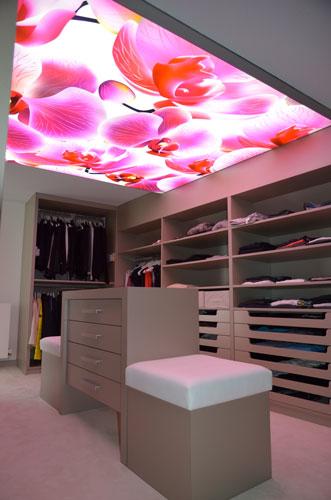 Plafond tendu décoratif