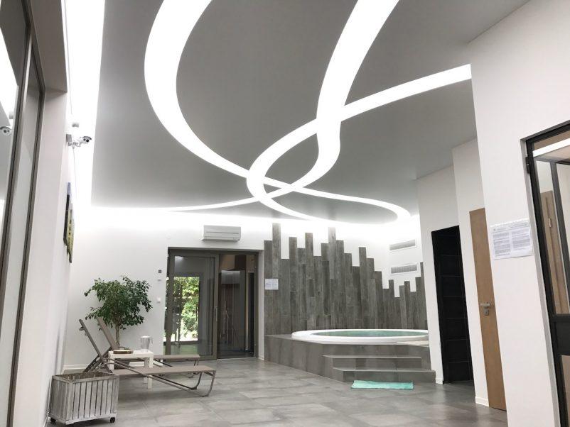 plafond tendu avec toile translucide
