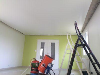 pose de plafond tendu pvc