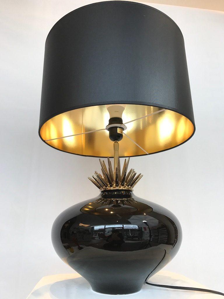 luminaire drimmer noir et or