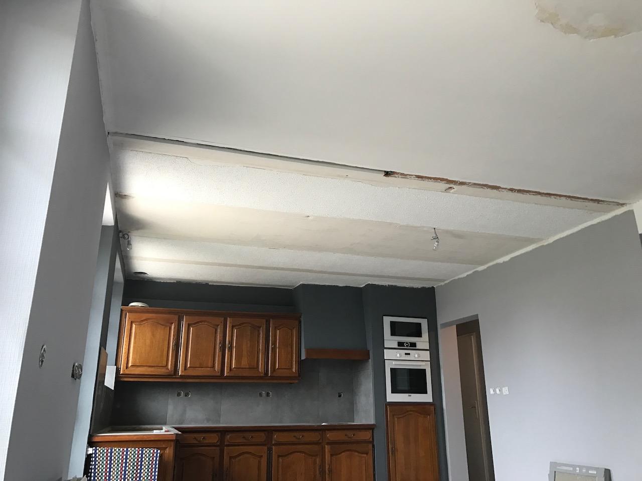 Objet Deco Laque Blanc plafond tendu blanc laqué et satiné avec décaissé à