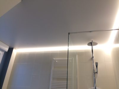 plafond tendu avec led périphérique
