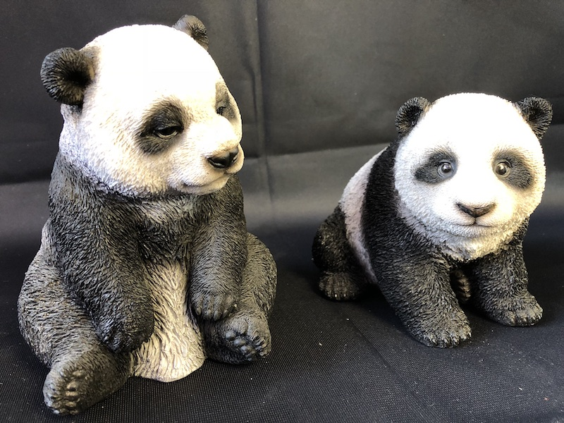 decoration panda miniature