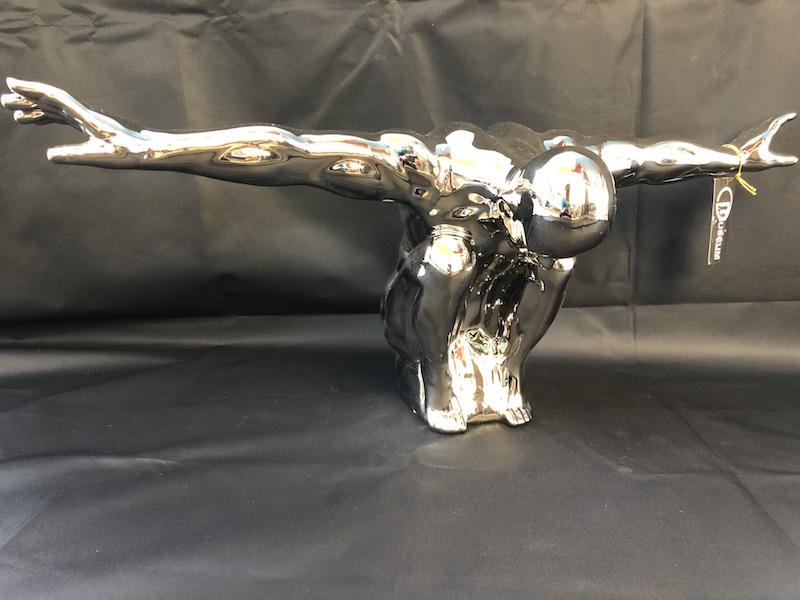Statuette plongeur chromé drimmer