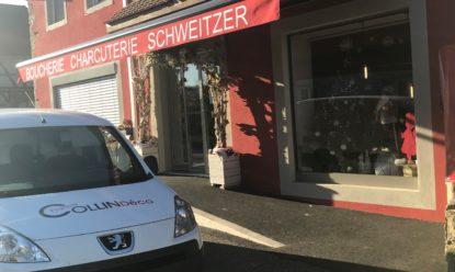 Boucherie Schweitzer: Store banne