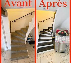 Habillage d'escalier à INGERSHEIM